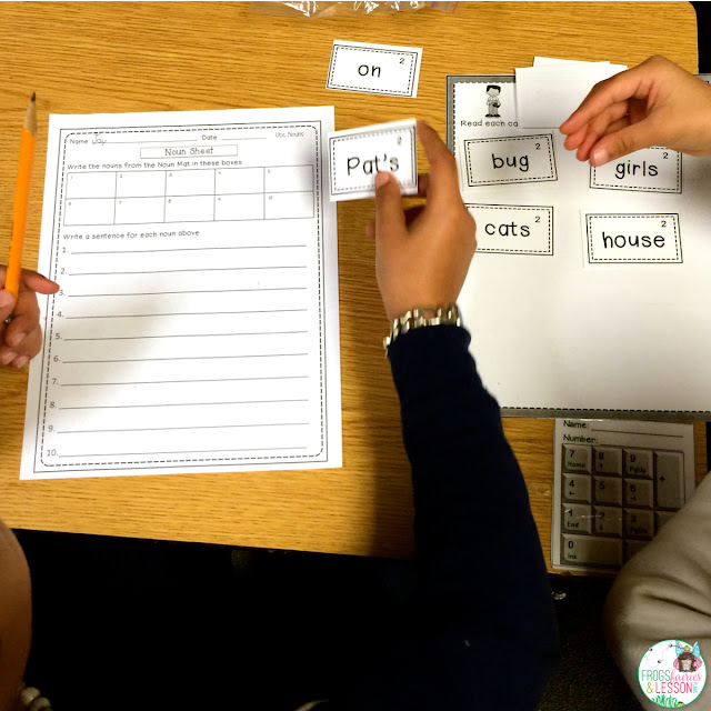 Literacy Center idea for sorting nouns