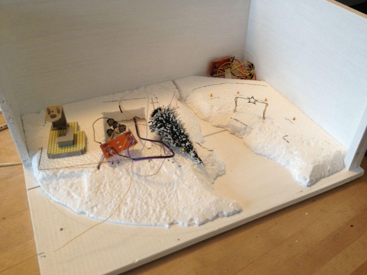 diorama modellbau 2 08 verkabelung und untergrund kleben. Black Bedroom Furniture Sets. Home Design Ideas