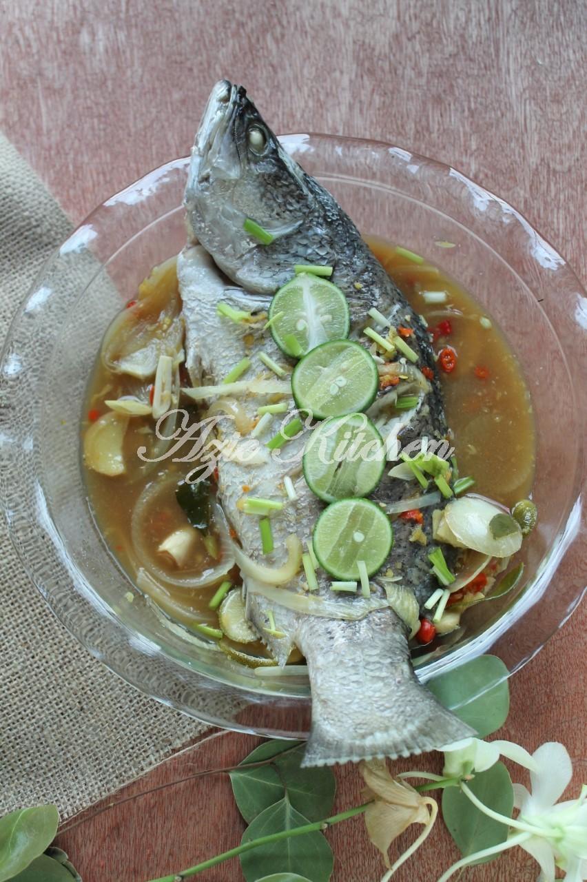 Ikan Siakap Stim Yang Mudah Dan Sedap Azie Kitchen