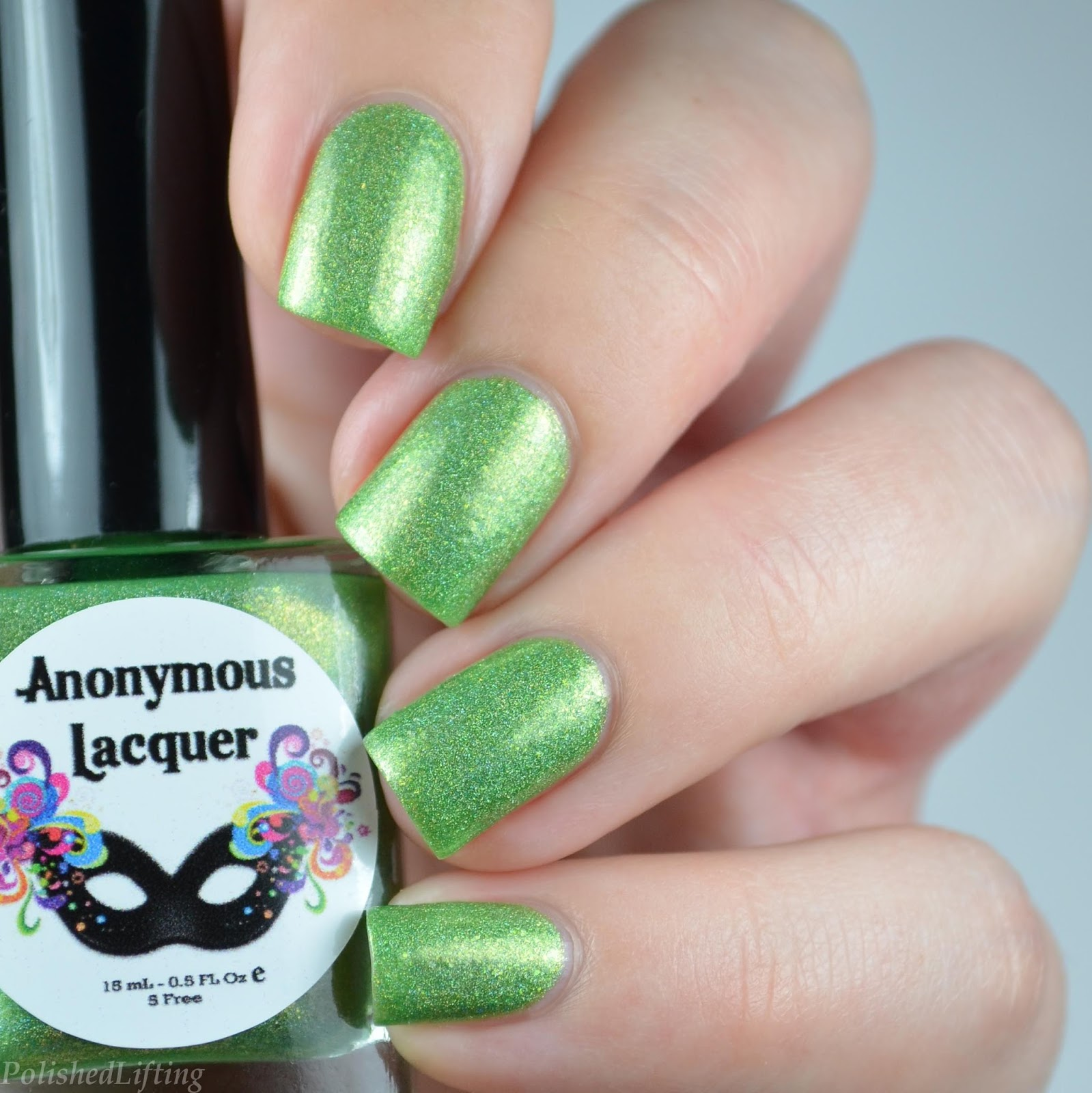 nail polish swatch - Polished Lifting: Frankenstein Halloween Nail Art Featuring