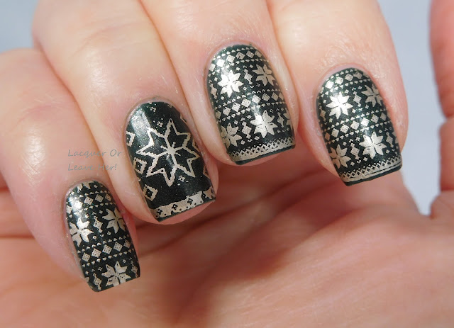 Winstonia Winter Wonderland over Spellbound Nails Holly Jolly
