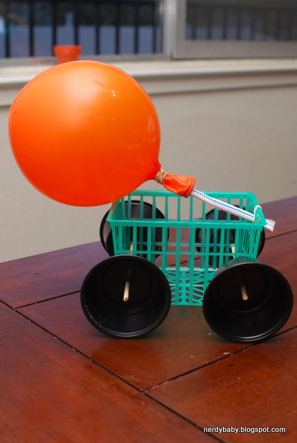 Nerdy Science Balloon Racers