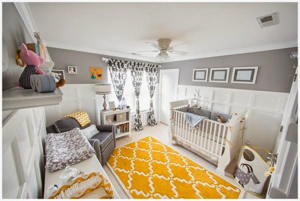 Dormitorios para beb s en gris y amarillo colores en casa for Habitacion bebe gris