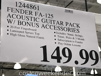 Deal for the Fender FA-125 Dreadnought Acoustic Guitar Pack at Costco