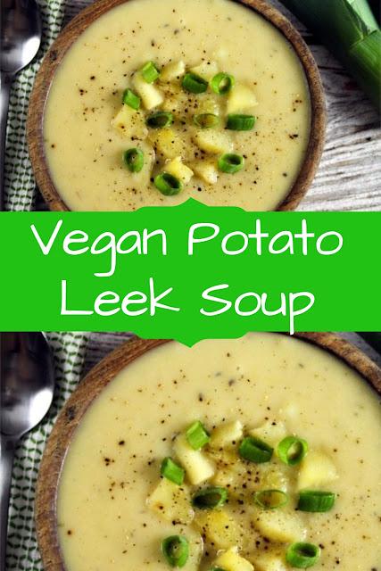 Vegan Potato Leek Soup  #VeganReceipes  #VeganPotatoReceipes  #LeekSoupReceipes
