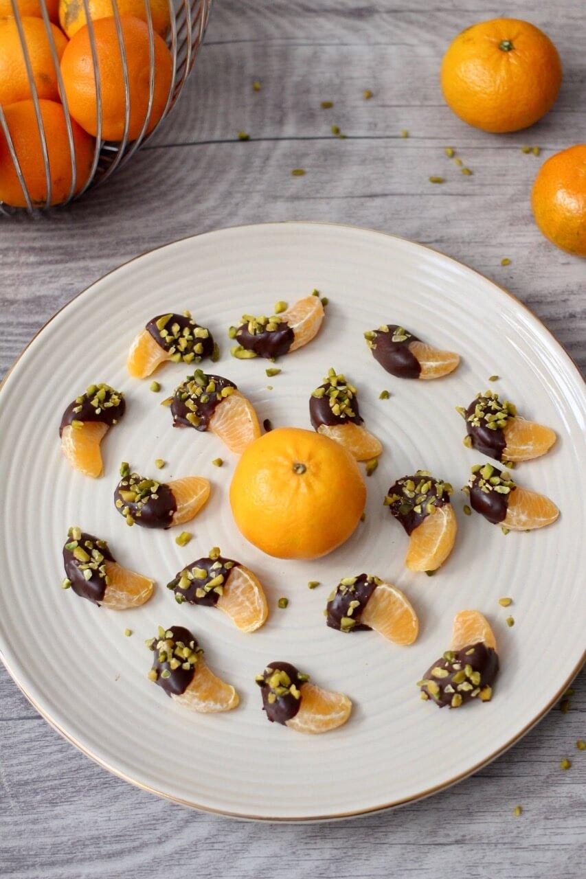 Rezept Mandarinen im Schokohemd