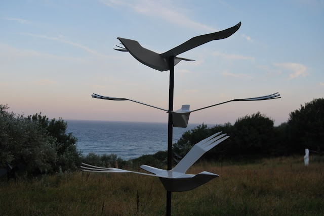 Cornish Tales, Sculptures in a Meadow by Terence Coventry photo by modern bric a brac