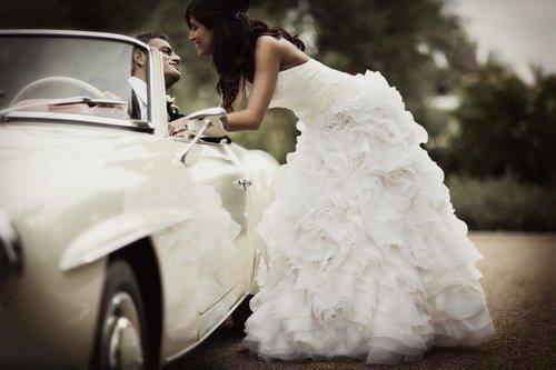 Vestido de novia elegante y moderno