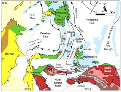 Peta Tektonik Regional Pulau Halmahera