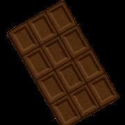 板チョコのイラスト(ダーク)