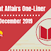 Current Affairs One-Liner: 21st December 2019