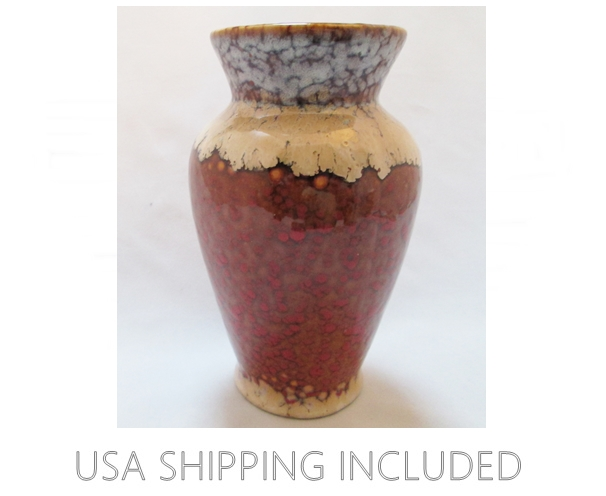 Earthy Color Oil Spot Glaze  Vase Signed