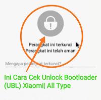 ini cara cek unlock bootloader