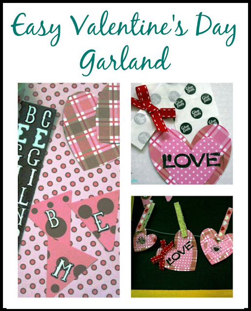 Create an easy Valentine's garland using craft supplies you already have on hand.