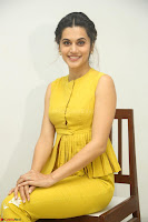 Taapsee Pannu looks mesmerizing in Yellow for her Telugu Movie Anando hma motion poster launch ~  Exclusive 035.JPG