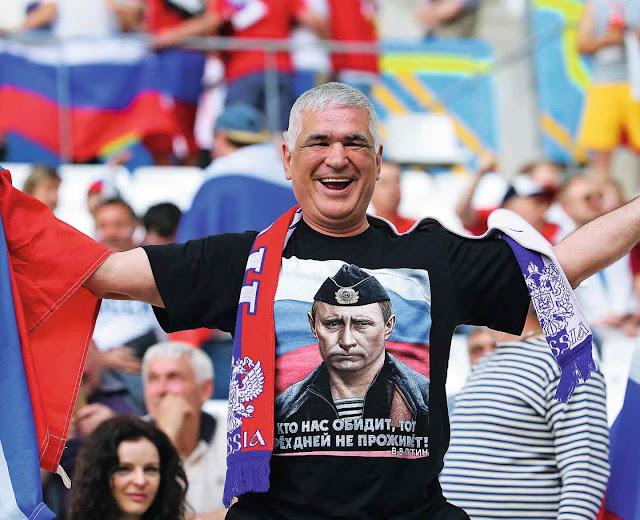 Para os fãs, uma boa imagem na Copa prepararia a hegemonia russa até militar