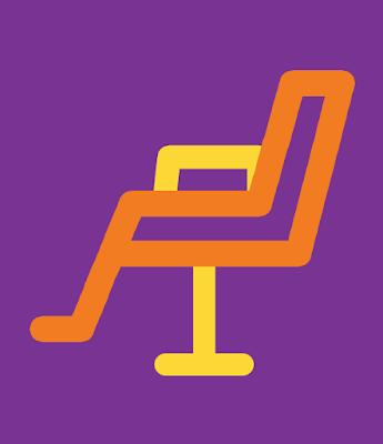 hairdresser chair salon icon