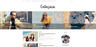 catarina blogger template