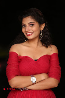 Actress Bindu Pictures in Red Dress at Attarillu Movie Press Meet 0009.JPG