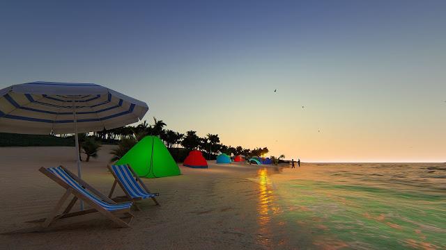 Khu cắm trại ven biển