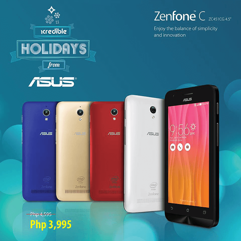 Asus ZenFone C Gets A Price Cut! Down To Just 3995 Pesos!