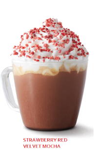 Strawberry Red Velvet Mocha