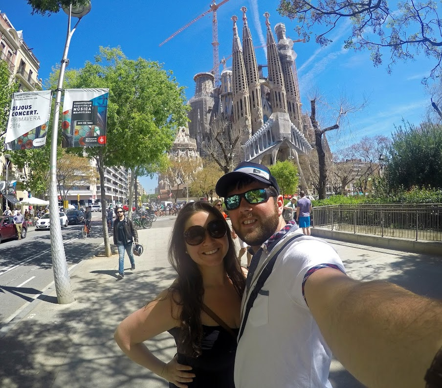 Couple at Sagrada Familia Barcelona
