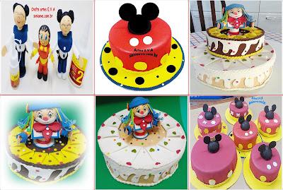 Decoração para festa infantil Bolo fake E.V.A
