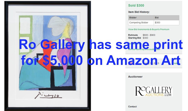 Ro Gallery sold the same After Picasso for $300. 8/15/13
