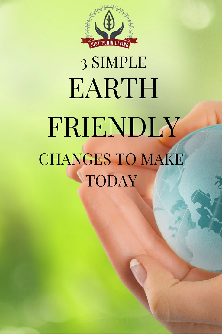 Here are three simple earth-friendly practices that you can implement today to start making your home a bit more green!