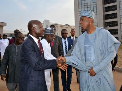 Saraki, Magu meet face-to-face at EFCC's N24b office in Abuja