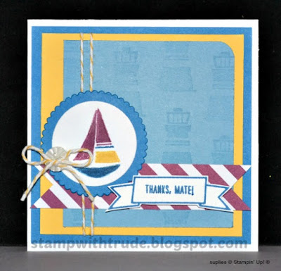 Settin' Sail, Thank You, Stampin' Up!, Stamp with Trude