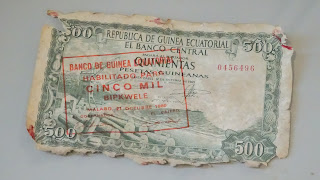 The former currency of Equatorial Guinea