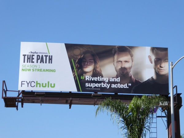Path season 1 FYC Hulu billboard