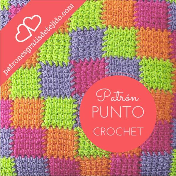 Cómo tejer Punto Entrelac al crochet paso a paso en video | Crochet ...