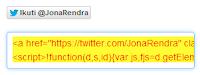 Copy kode HTML yang telah muncul - Jona Rendra
