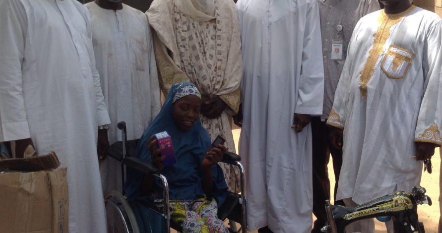 girl weeping wheelchair scholarships