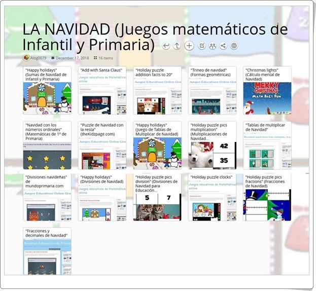 """"""" 16 juegos matemáticos de NAVIDAD para Infantil y Primaria"""""""