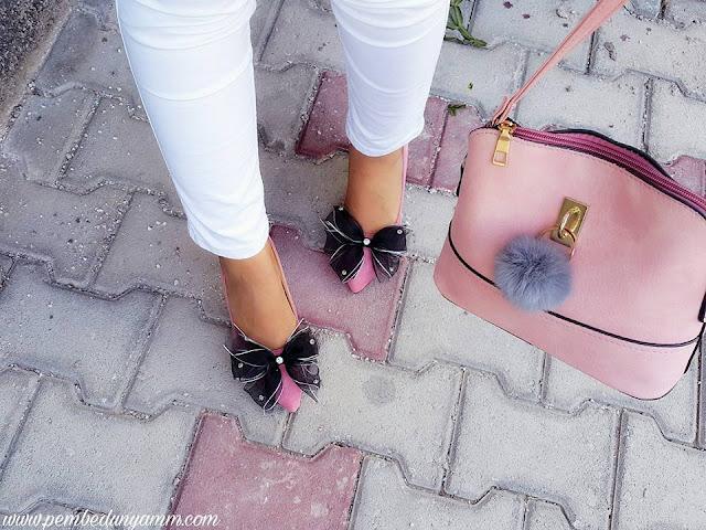 pudra süet ayakkabılar