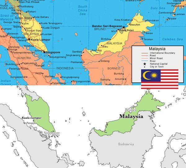 peta negara malaysia serta profil negara malaysia