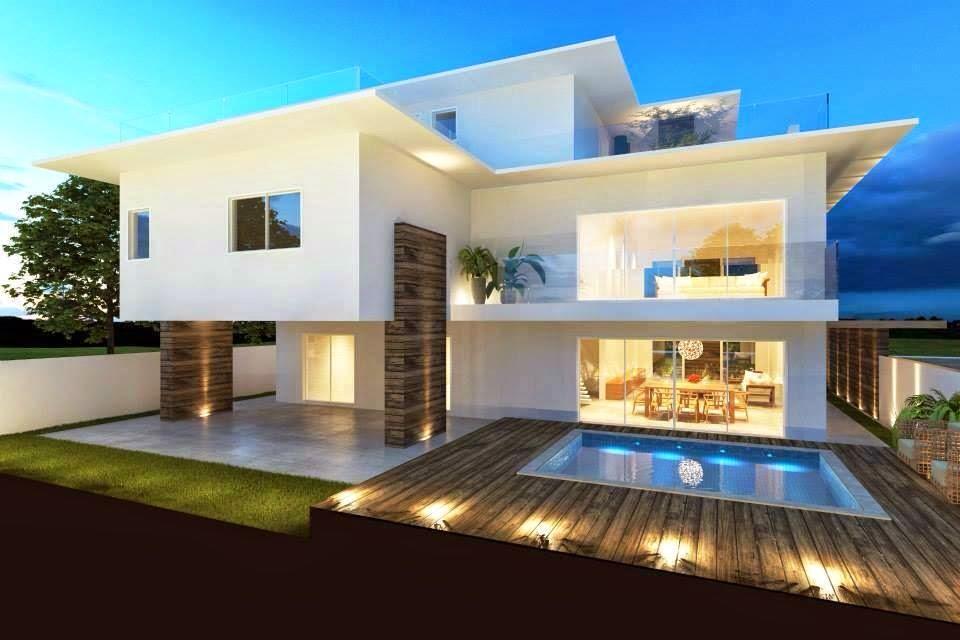 Construindo minha casa clean 30 fachadas de casas for Esempi di ville moderne