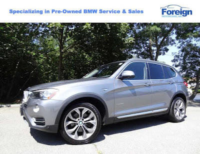 Space Gray Metallic, 2015 BMW X3 xDrive28i, Foreign Motorcars Inc, Quincy Massachusetts, 02169, For Sale