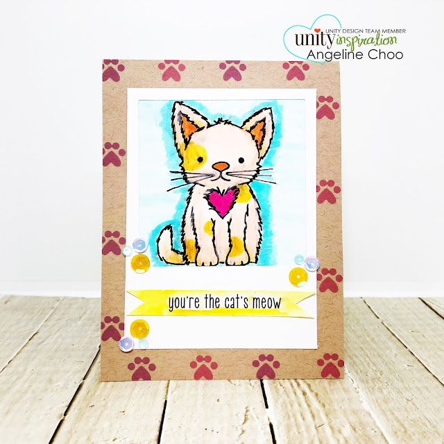 ScrappyScrapy: [NEW VIDEOS] A cat, a dog and Santa with Unity Stamp - Cat's Meow #scrappyscrappy #unitystampco #quicktipvideo #youtube #copicmarkers #sequins #polaroidcard #catlover