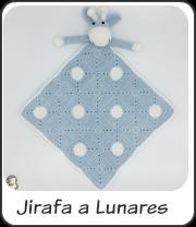 Manta de apego Jirafa a lunares