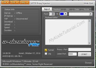 Internet Gratis Menggunakan HTTP Injector PC
