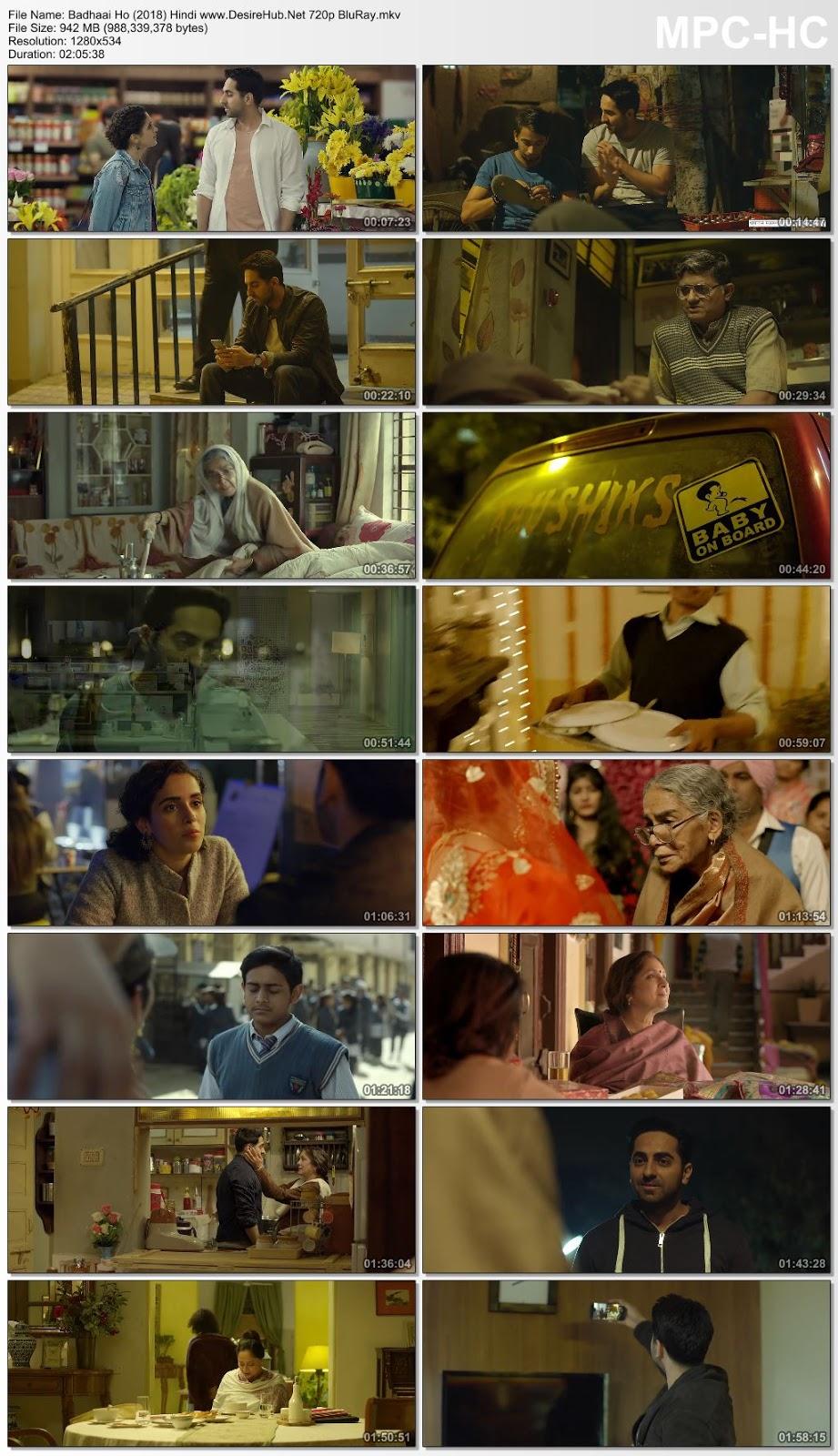 Badhaai Ho 2018 Hindi 480p BluRay 350MB Desirehub