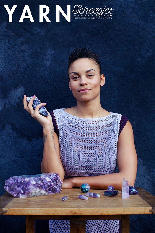 Amethyst Dress crochet pattern - YARN 5 book-a-zine by Scheepjes - www.lillabjorncrochet.com