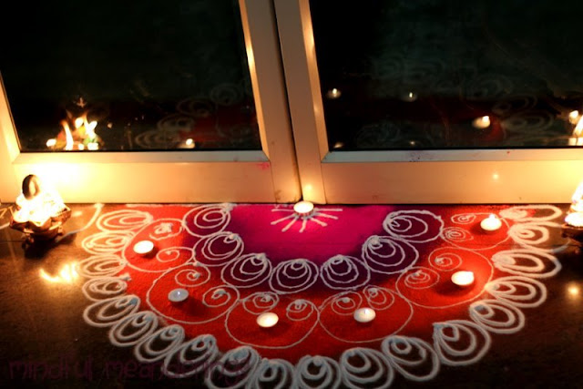 Diwali decor in pictures artsy craftsy mom for Diya decoration youtube