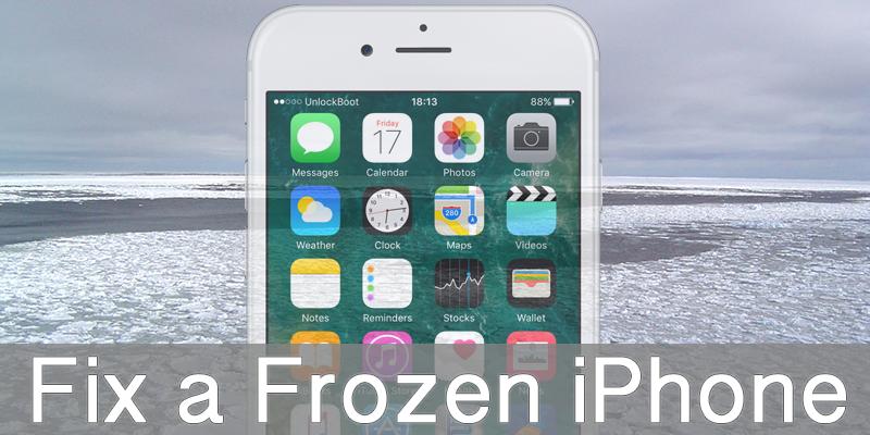 fix frozen iPhone