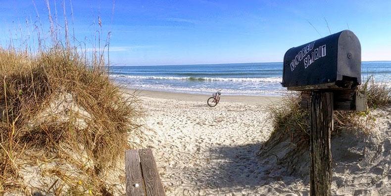 El buzón Kindred Spirit, en Sunset Beach | Estados Unidos